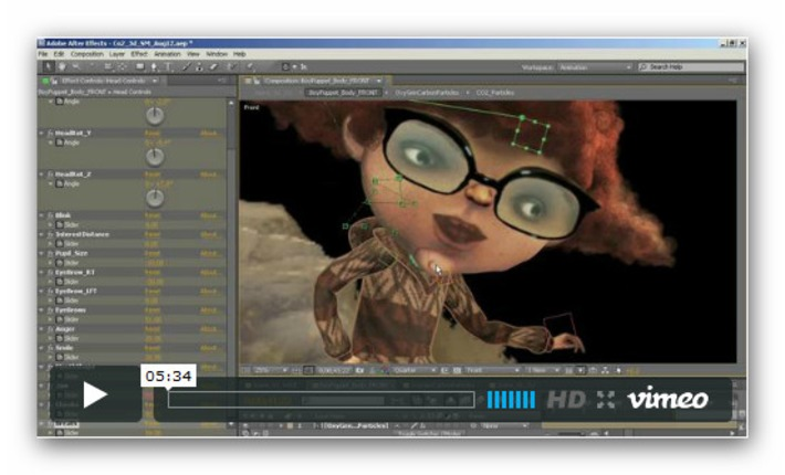 character rigging and animation series from Daniel Gies « After Effects region of interest | Machinimania | Scoop.it