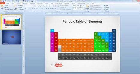 free periodic table of elements with names ofr, Modern powerpoint