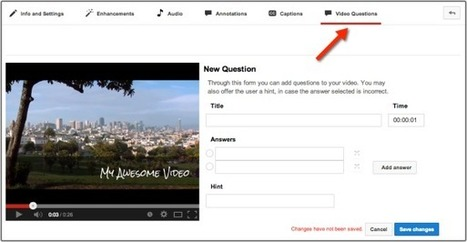 How to Add Questions for Students to YouTube Videos | Thoughtful Tech | Scoop.it