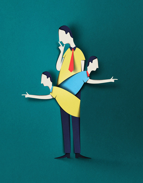 Digital Papercut Illustrations by Eiko Ojala | Art is where you see it | Scoop.it