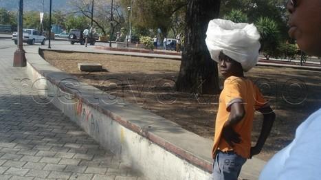 A restavek child working in Haiti