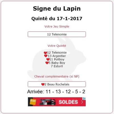 8 104.94€ pour les astroquinté au Tiercé-Quarté-Quinté+ ce mardi 17/01/2017 sur l'hippodrome de Pau. | Pariez avec ASTROQUINTE | Scoop.it