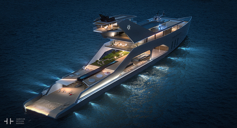 super yacht with own private beach - concept by hareide | Nereides Diary | Scoop.it