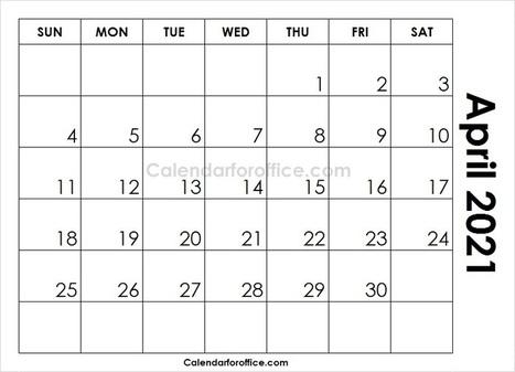Printable April 2021 Calendar In Calendar For Office Scoop It