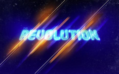 Reader Tutorial: The Revolution Artwork by Aoiro Studio   Abduzeedo   Photoshop Text Effects Journal   Scoop.it