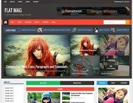 Flat Mag Responsive Blogger Template | Blogger themes | Scoop.it