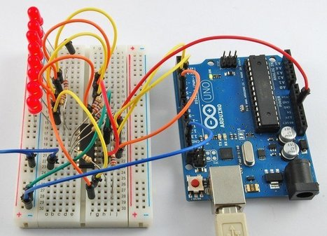 Overview | Arduino Lesson 4. Eight LEDs and a Shift Register | Adafruit Learning System | Raspberry Pi | Scoop.it