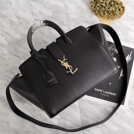 Saint Laurent Small Downtown Cabas Bag In Leather Black 7645daf046