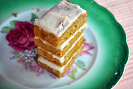 Pumpkin Bars with Cream Cheese Frosting | Annie Haven | Haven Brand | Scoop.it