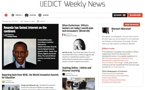 Nov 29 - IJEDICT Weekly News is out | Studying Teaching and Learning | Scoop.it