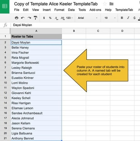 TemplateTab: All Students on One Spreadsheet - Teacher Tech | web2.0+ for lærere | Scoop.it