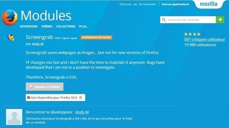 Firefox : Pearl Crescent Page Saver remplacée par Screengrab | Informatique | Scoop.it
