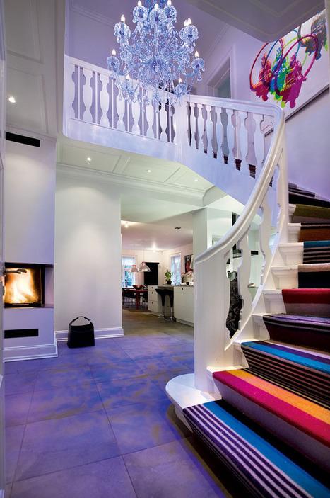 Une maison danoise en noir et couleurs | Aménagement & Finitions | Scoop.it