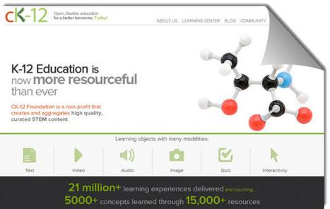 CK-12, recursos educativos gratuitos y plan de estudio personalizado para alumnos de educación básica | E-Learning, Formación, Aprendizaje y Gestión del Conocimiento con TIC en pequeñas dosis. | Scoop.it