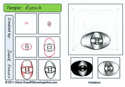 eyesis tangle pattern | Artistic Line Designs-all free | Scoop.it