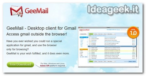 GeeMail: ottimo client Gmail sviluppato in Adobe AIr | IdeaGeek | Digital Designer Thoughts | Scoop.it