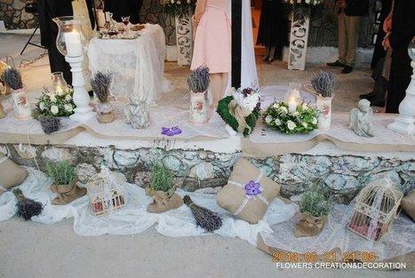 5712fc91a67d στολισμος γαμου με λεβαντα - Ανθοπωλεία Δριμάλας