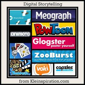 Kleinspiration: 10 Apps & Sites for Digital Storytelling & more!   educational technology for teachers   Scoop.it