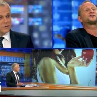 Le show de Benoît Poelvoorde au JT de RTL-TVi devant Luc Gilson: Mais tu es fou de dire à ma femme que je suis infidèle! (vidéos) | Le Journal de la Télé - Nostalgie | Scoop.it