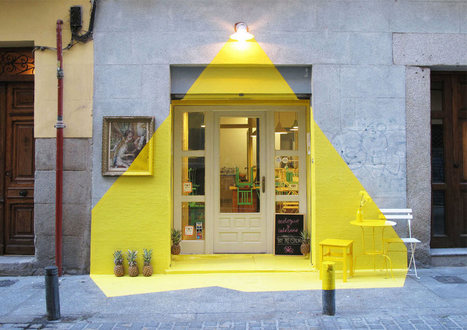 This Restaurant Facade Tricks The Eye With Tape - Design Milk | Web inspiration | Scoop.it