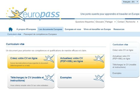 Europass: Curriculum vitæ | 21st Century Tools for Teaching-People and Learners | Scoop.it
