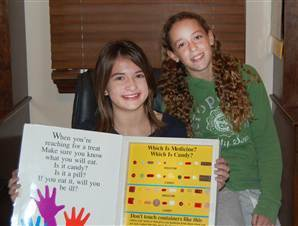 Seventh Graders Share Science Fair Project Results with American