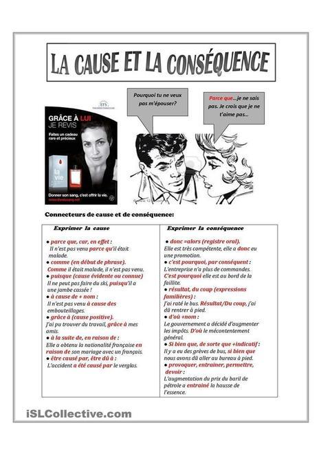 La cause et la conséquence | Français | Scoop.it