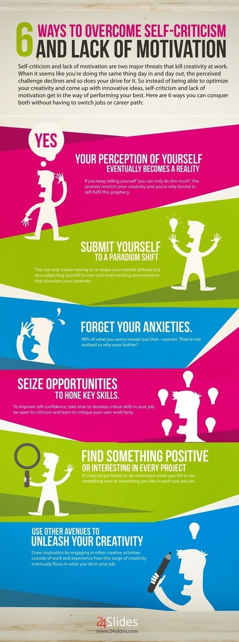 6 Ways to Conquer Self-Criticism and Lack of Motivation | creating infographics for promotion | Scoop.it