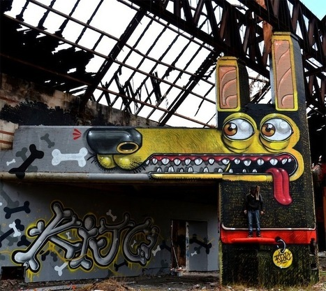 Street Artist Uses Structure's Shape to Create Funny Dog - My Modern Metropolis | Art! | Scoop.it