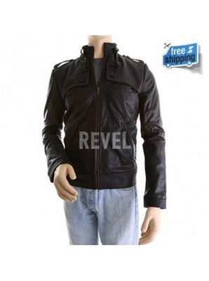 sale black leather jacket' in Best of Men's Suiting and
