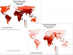 Total Fertility Rates, 1950 and 2015 | Geography Education | Scoop.it