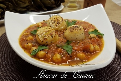 Noix de saint Jacques et sauce tomate aux pois chiches | Cuisine Algerienne, cuisine du monde | Scoop.it