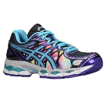 Asics Women's Gel-Nimbus 16 Running Shoe, Iridescent/Blue Atoll/Black, 8.5  M US