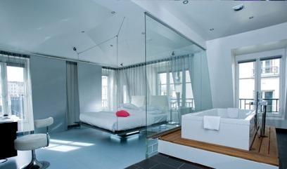 Les meilleurs hôtels design sur Paris? - le blog grand voyageur | Salle de bains | Scoop.it
