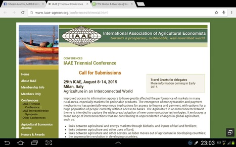 29th ICAE, August 8-14, 2015 Milan, Italy Agriculture in an Interconnected World  IAAE | Triennial Conference 2015 | FTN Global & Overseas | Scoop.it