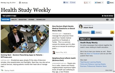 Aug 20 - Health Study Weekly is out | Health Studies Updates | Scoop.it