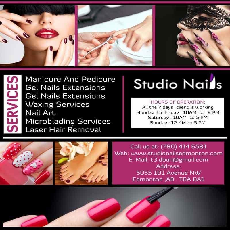 Studio Nails Capilano Edmonton Studio Nails