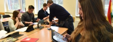 Lernen heute: Tablet-Klasse der Waldschule Hatten im Landkreis Oldenburg (Niedersachsen) | German learning resources and ideas | Scoop.it