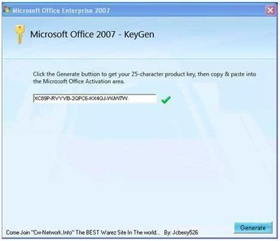 ms office professional 2007 product key