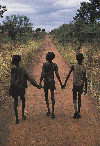 they poured fire on us from the sky the story of three lost boys from sudan