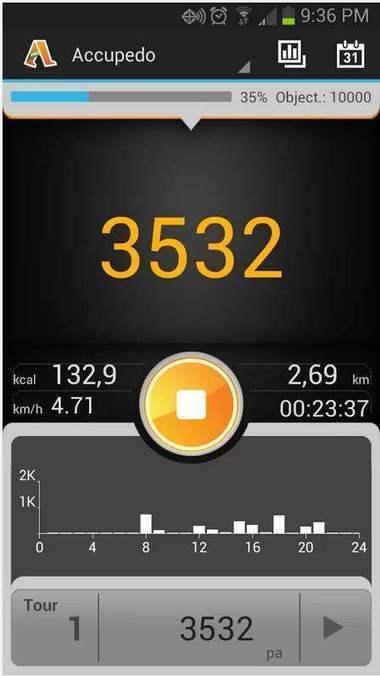 Un podomètre pour Android, Podomètre – Accupedo | Geeks | Scoop.it