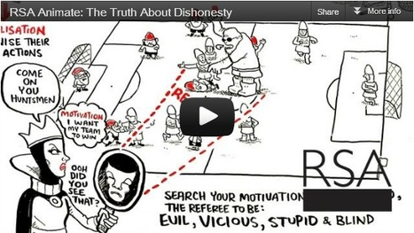 RSA Animate  offers up The Truth About Dishonesty by Dan Ariely   Technology in Art And Education   Scoop.it