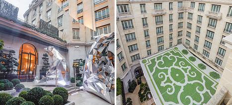 Habillage décoratif des travaux du mythique Four Seasons Hotel George V - Celize Habillage Urbain | Habillage Urbain | Scoop.it