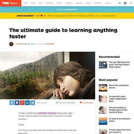 The ultimate guide to learning anything faster | E-Learning | Scoop.it