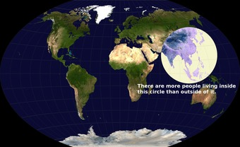 Mind-blowing Map of World Population | real utopias | Scoop.it