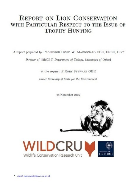 """""""Report on Lion Conservation.."""" WildCRU 