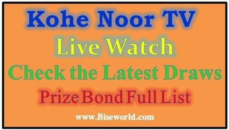 Check Prize Bond Draws Koh e Noor TV Live Strea