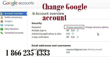 how to change your google account address