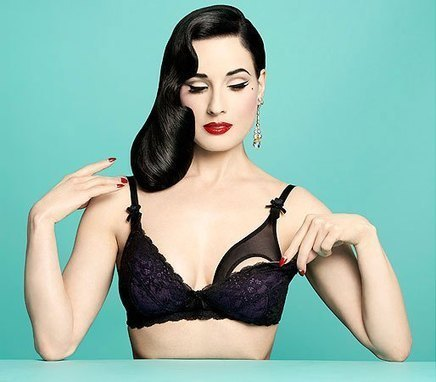 Dita Von Teese Designed Nursing Bras That Are Actually Pretty ... | Celebrating Fabulosity: Pinup to Burlesque! | Scoop.it