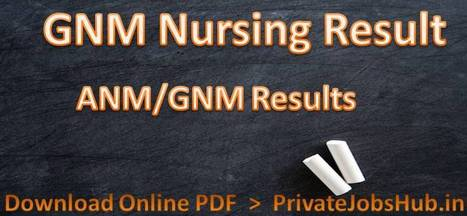 GNM Nursing Result' in Privatejobshub | Scoop it